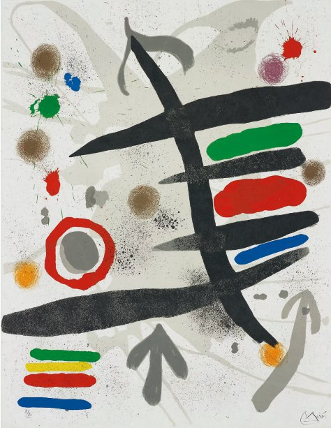 Joan Miro Les Perseides- One Plate 1970