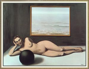 Magritte Bather Between Light And Darkness