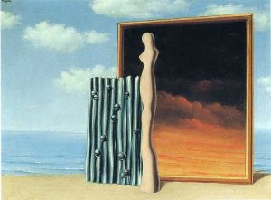 Magritte Composition On A Seashore