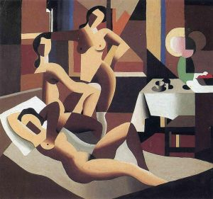 Magritte Three Nudes In An Interior