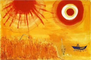 Marc Chagall A Wheatfield On A Summer S Afternoon