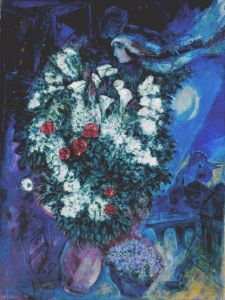 Marc Chagall Bouquet With Flying Lovers