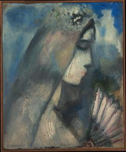 Marc Chagall Bride With Fan - 1911