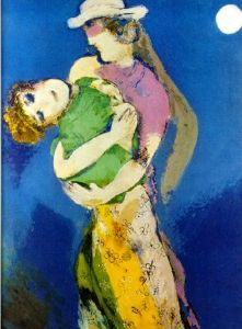 Marc Chagall Lovers In The Moonlight