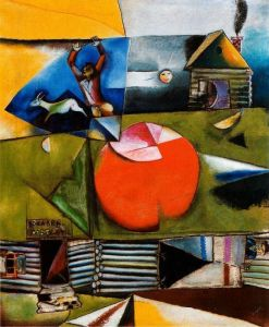 Marc Chagall Russian Village Under The Moon