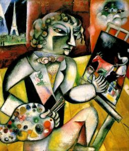 Marc Chagall Self Portrait With Seven Fingers