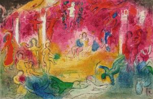 Marc Chagall Temple And Story Of Bacchus - 1962