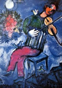 Marc Chagall The Blue Violonist