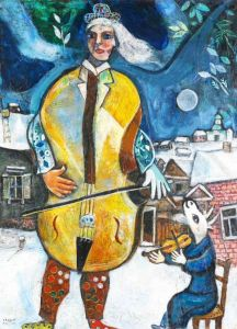 Marc Chagall The Cellist
