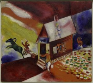 Marc Chagall The Flying Carriage - 1913