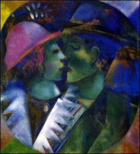 Marc Chagall The Lovers In Green