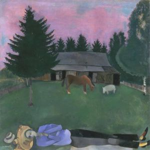 Marc Chagall The Reclining Poet