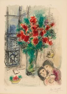 Marc Chagall The Red Flowers