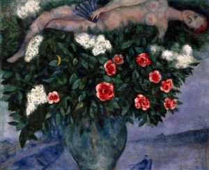 Marc Chagall Woman And Roses