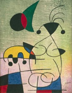 Miro The Sun Embracing The Lover