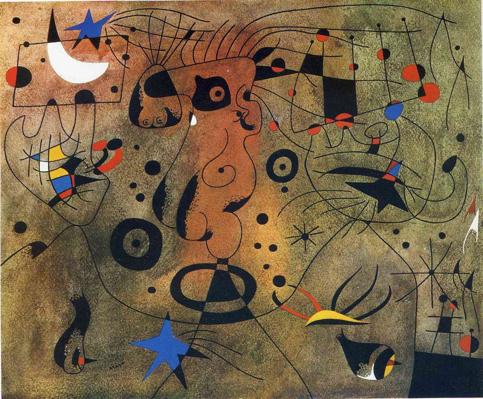 Miro Woman With Blond Armpit Combing Her Hair