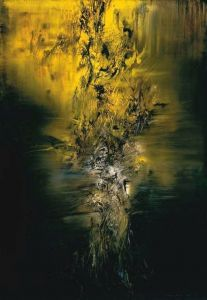 Zao Wou-ki Composition In Green Northern Lights 1959